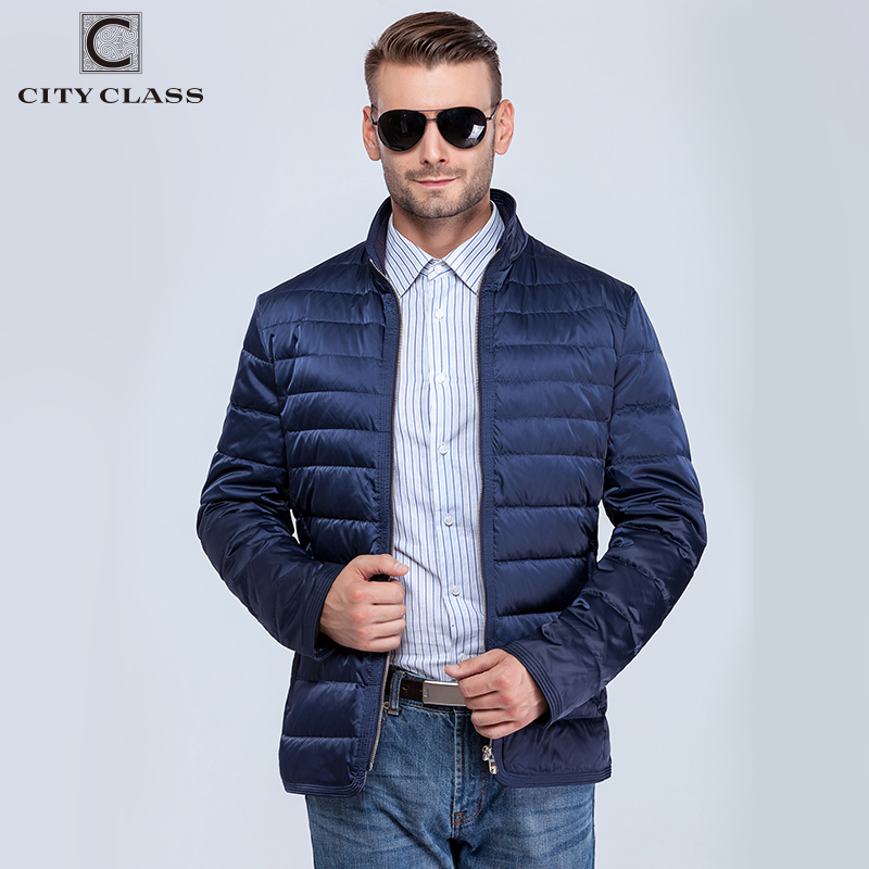 City Class 2018 New Ultralight Mens 90% White Duck Down Jacket Autumn Winter fashion duck down coat windproof for male 181