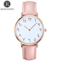 REOULIONS Fashion Arabic Numbers Women Watch Ladie ...