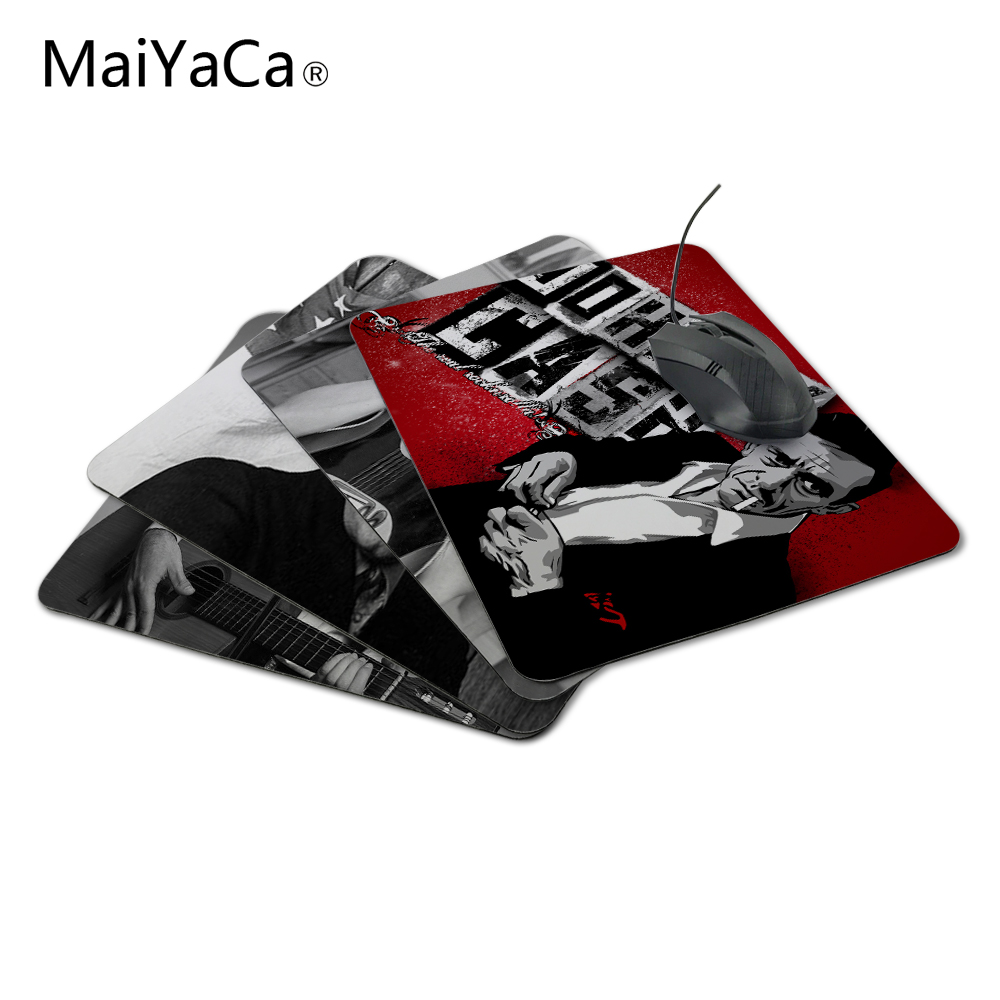 MaiYaCa Hot Sale Johnny Cash Customized Skin Non Slip Gaming Durable Rubber Rectangle Mousepad for PC Optical Mouse