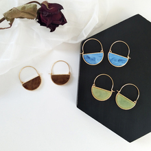 Retro fashion personality semicircle earrings temperament delicate fashion earrings 2018 women geometric fashion earrings pair of delicate geometric faux gem earrings for women