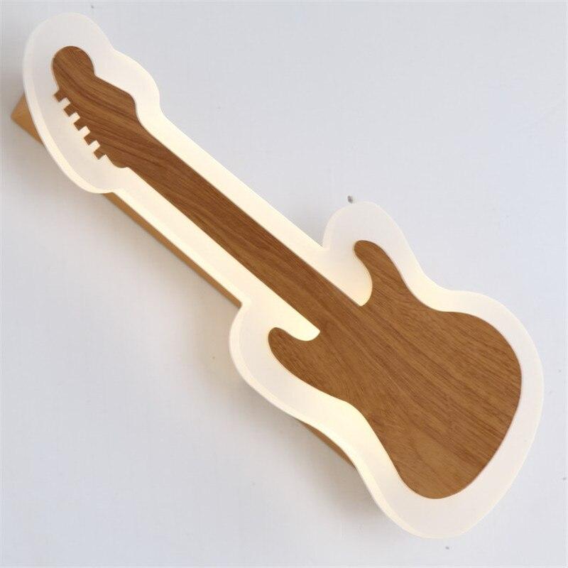 Nouveauté moderne acrylique guitare Design mur LED lampe pour chambre d'enfants chambre salon enfant cadeau porche lumière 1102