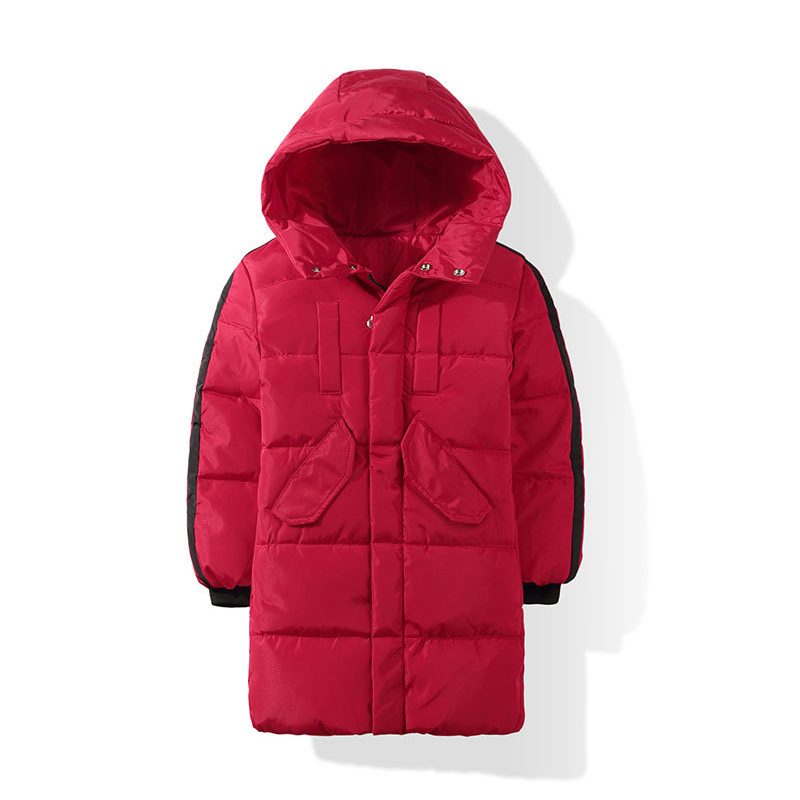 DEXIA Children Autumn and Winter Jacket High Quality Boys and Girls Long Thick Cotton Hooded Solid Outwear & Coats Boys Parkas children autumn and winter warm clothes boys and girls thick cashmere sweaters