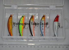Free shipping plastic hard lure 70mm 4.5g 5pieces/box div 0.9m Minnow fishing lure Multi-colors set fishing tackle 2-18