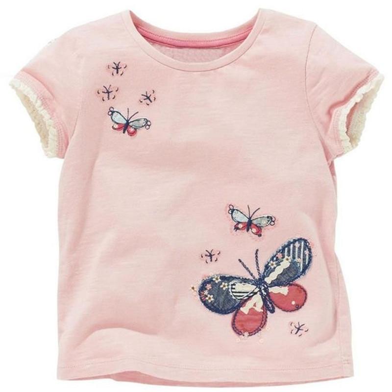 Pink baby girl t shirt girls summer shirts children for Newborn girl t shirts