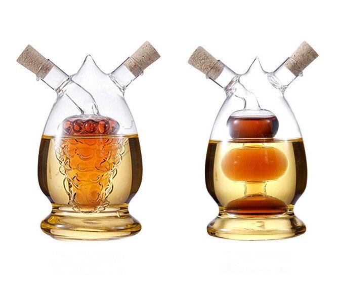 1pc Nordic Kitchen Seasoning Oil Bottle Glass Oiler oil can leak oil and vinegar sauce bottle OK 0643