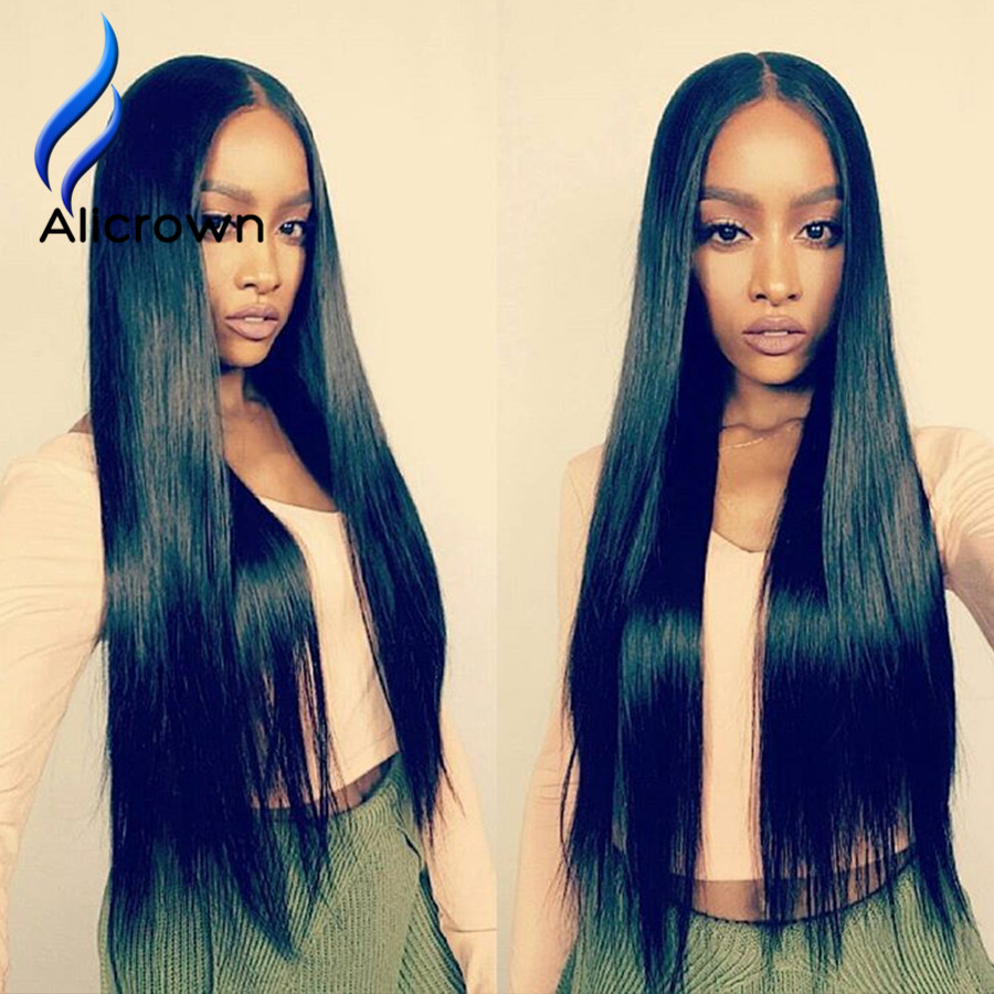 Alicrown Lace Front Human font b Hair b font Wigs For Black Women Full Lace Human
