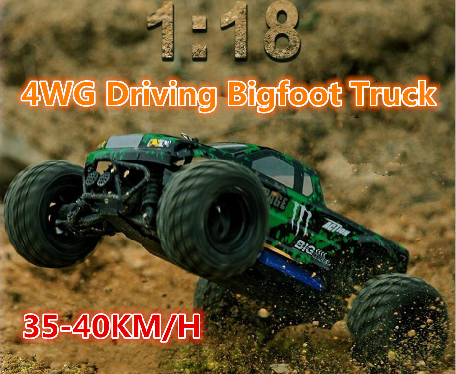 New arrival RC model toy 18859E 35-40km/h 4WD 2.4Ghz 1:18 Scale High Speed Remote Control Car Electric Off-road Vehicle model suunto фонарь miniwave r