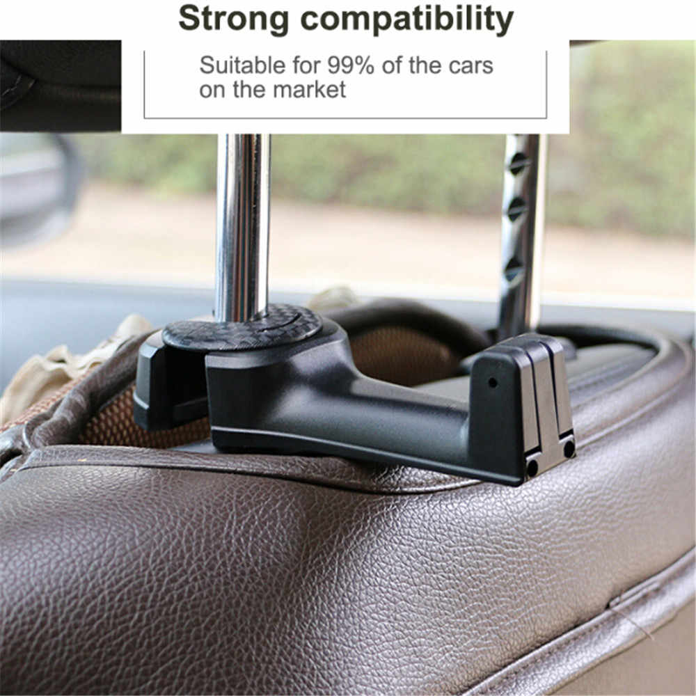 Kebidumi soporte de teléfono flexible para el coche soporte de ganchos y gancho para la cabeza del coche colgador trasero para el bolso de tela Clips de coche nuevo organizador