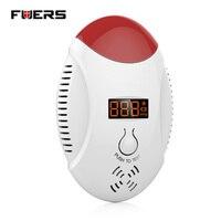Wireless CO Natural Gas Sensor Leak Detector Alarm Sound Warning Work Independent Gas Detector