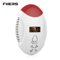 Wireless CO Natural Gas Sensor Leak Detector Alarm Sound Warning Work Independent Gas Detector