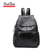 FINDTIME Brand Design Ladies Backpack 2017 Autumn and Winter New Backpack Korean Version of The School Ladies Travel Backpack