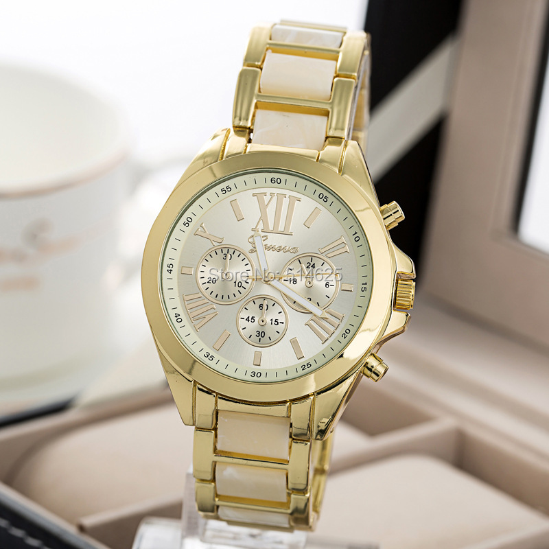 ФОТО 2017 New Fashion Watch Women Geneva Brand Watches Men Quartz Watch Gold Steel Women Watches Relogio Masculino Relogio Feminino