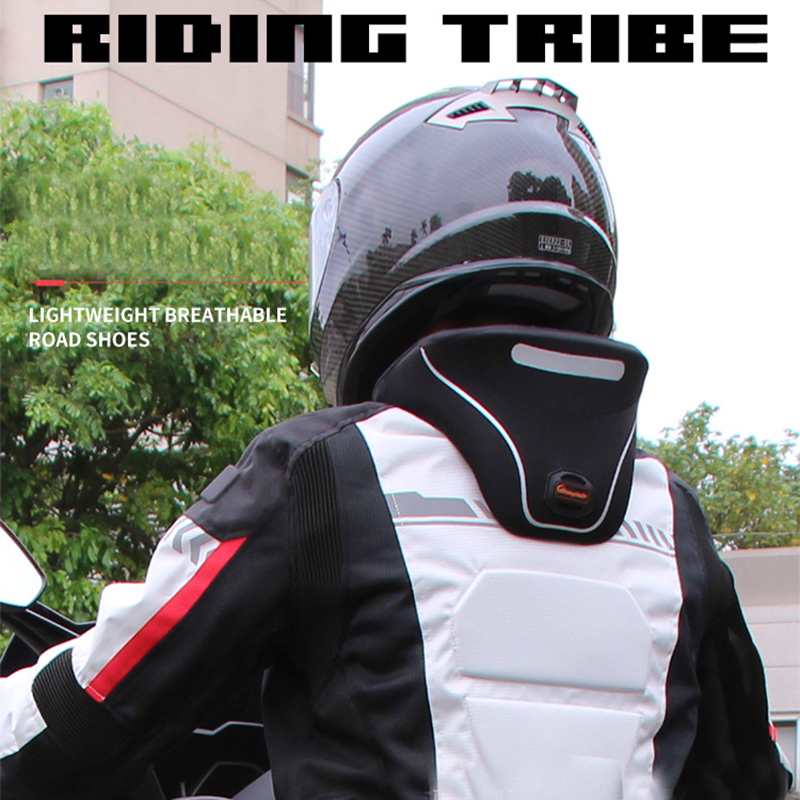 цена на Riding tribe Motorcycle neck protection riding neckguard Reflective zipper 3D Cervical spine protective moto parts