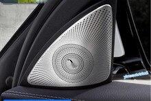 Матовый Двери Автомобиля Столп Стерео Аудио Спикер Литья Крышка накладка Для Mercedes Benz E Class E-Class W213 2016 2017 аксессуары