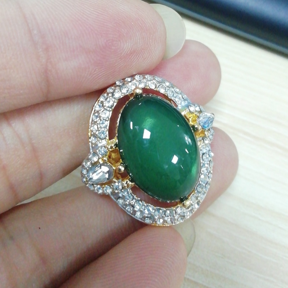 Cute Green Opal Ring