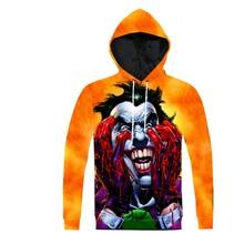 Plstar Космос Мода Для мужчин Толстовка с капюшоном 3D с принтом Бэтмен Джокер DC Comics Superhero Повседневное пуловер Бесплатная доставка