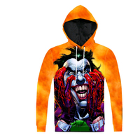 2017 New Arrival Fashion Men Hooded Sweatshirt 3D Printed Batman Joker DC Comics Superhero Casual Pullover