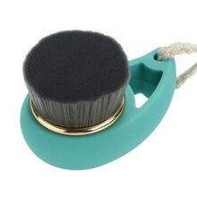 Мягкая волоконная кисть для лица глубокое очищение пор уход за лицом Массажер для мытья кисти инструменты