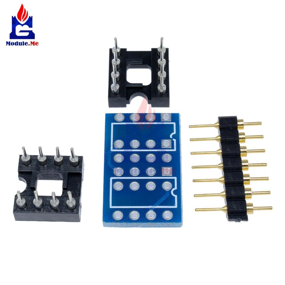 Dual Dip8 To Mono Opamp Pcb Pin Socket For Ne5532 Opa2132 50 Prototype Circuit Panel Solder Diy 50x70 Board 1 X 2 4pin Header 8pin Ic