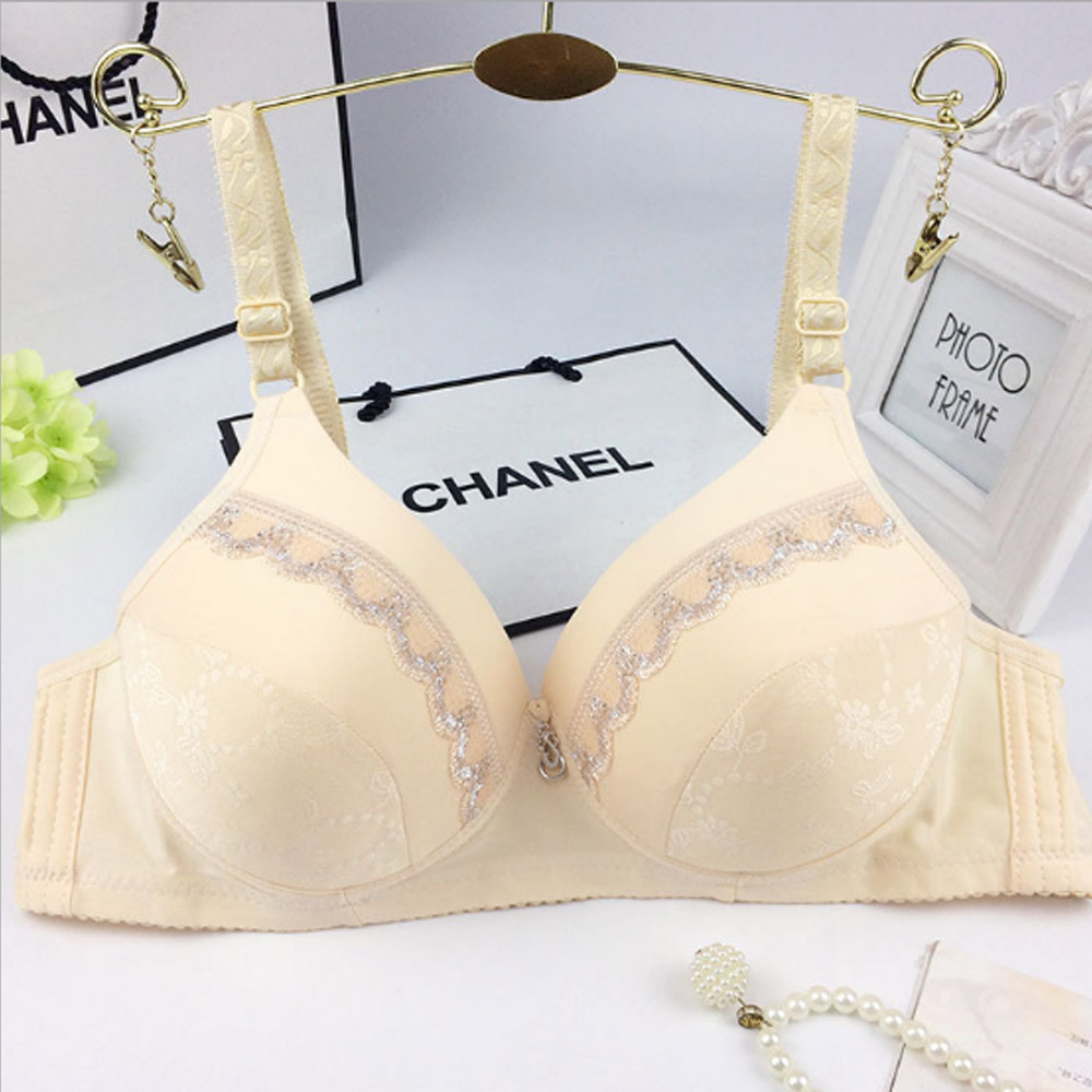 Womens Lingerie Push Up Bra Light Padded Small Breasts Wireless Deep V Bralette 34-44 AA A B C Cup