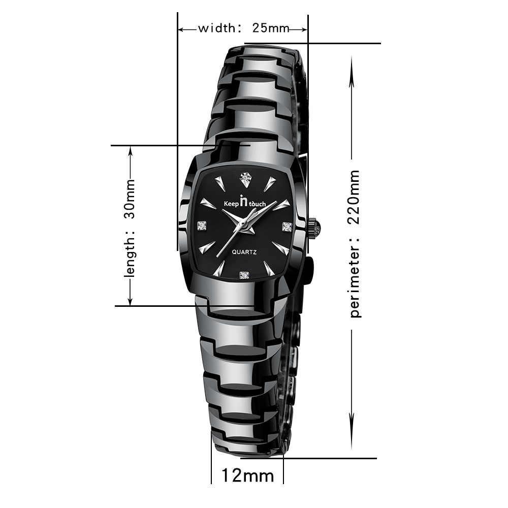 KEEP IN TOUCH квадратные женские наручные часы со стразами кварцевые часы женские Роскошные платья женские часы-браслет reloj mujer montre femme