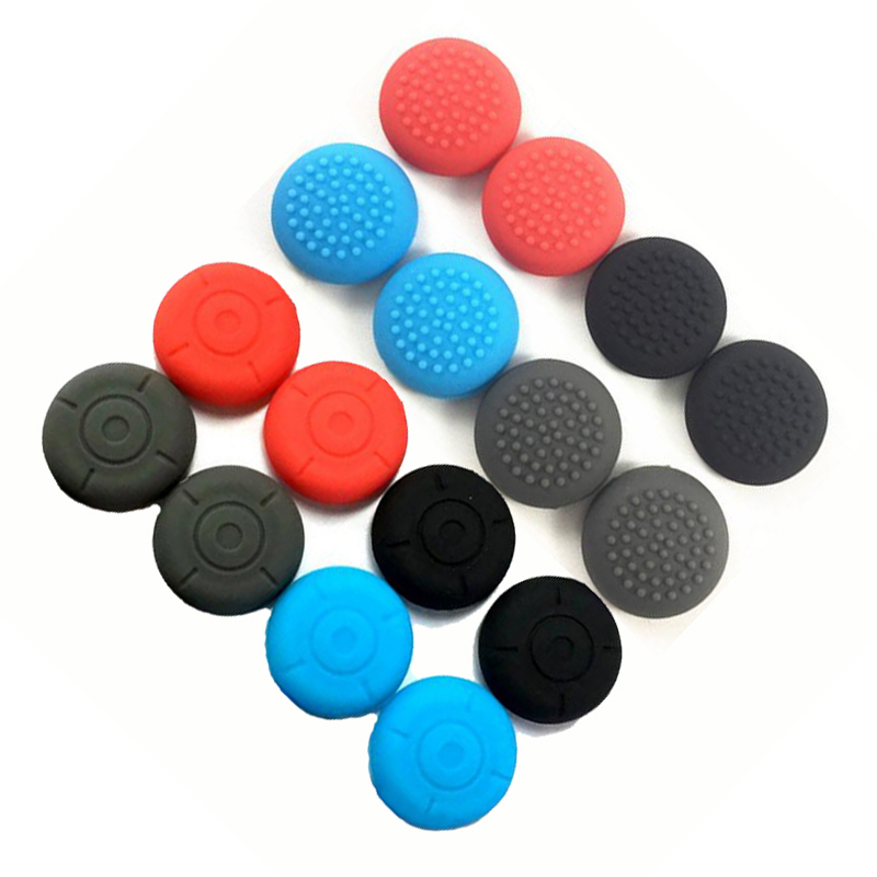 4Pieces Silicone Thumb Stick Grip Caps Joypad Analog Joystick Cover Case For Nintend Switch NS Controllers Joy-Con ThumbStick