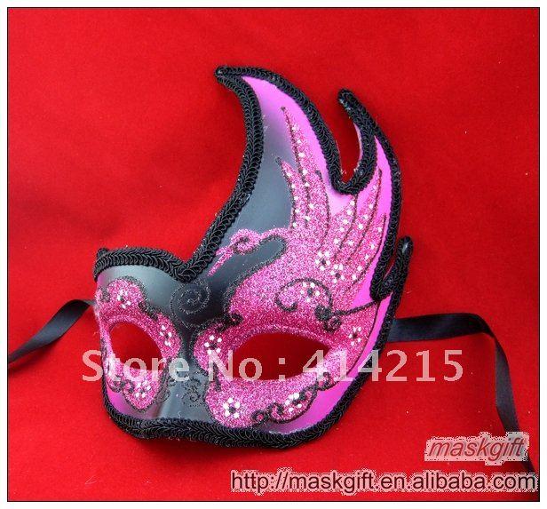 DHL, в США, красивая розовая и черная Маскарадная маска с рисунком лебедя