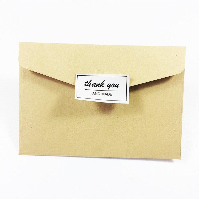 Купить с кэшбэком 80 Pcs/lot Black&White 'thank you HAND MADE' Seal Label Sticker DIY Handmade For Gift Cake Baking Scrapbooking Sealing Sticker