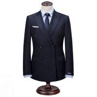 Maatwerk Mannen Double Breasted Trouwpak Bruidegom Tuxedos Formele Beste Man Pak Business Casual Slim fit Man Pak Gemaakt door tailor