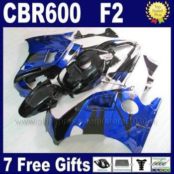 ABS motorcycle fairing bodywork for Honda blue black 91 92 93 94 CBR 600 F2 CBR600 F2 1992 1993 1991 1994 CBR600 F fairngs parts