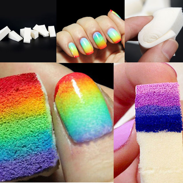 Nail Art Painting Sponge Nails Equipment Simple Diy Change Color Creative Polish Tools 8