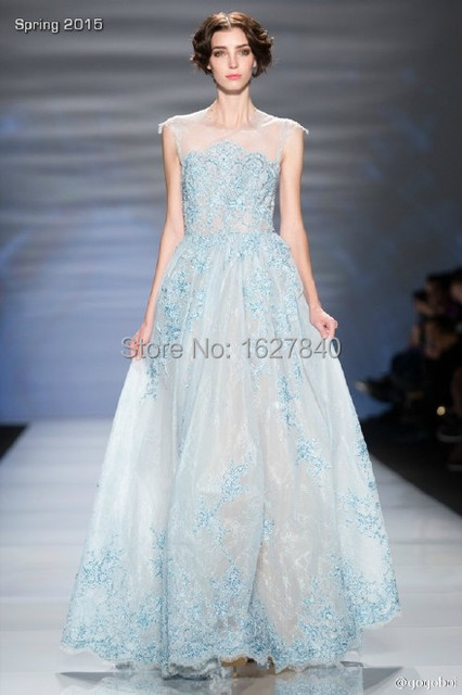 Vestidos New Wedding Dresses 2015 Applique Lace Wedding Gowns Sweep ...