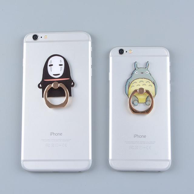 """Totoro & Kaonashi"" Finger Ring Mobile Phone"