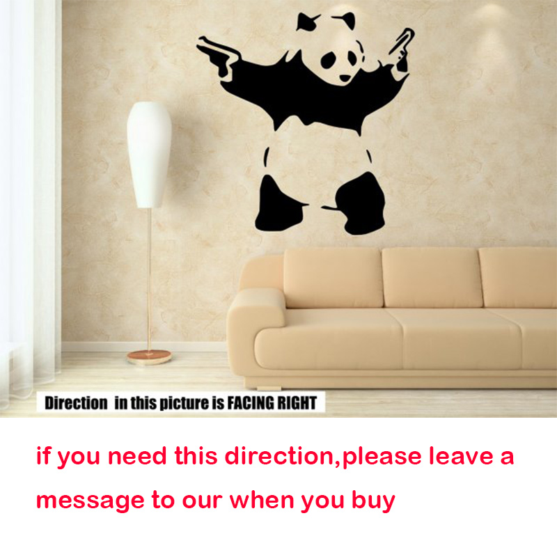 Banksy Panda Wall Stickers, DIY home decoration removable wall decal ...