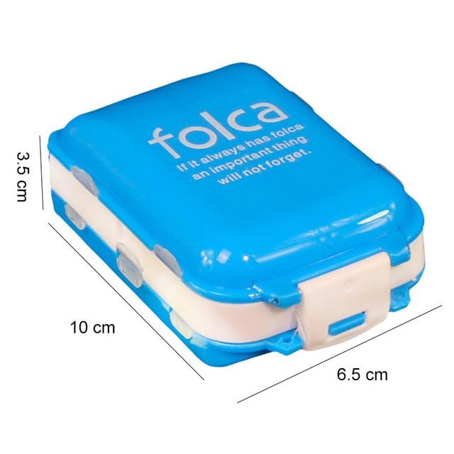 Przenośny składany futerał na pigułki medycyna tabletki na leki leki na kapsułki tabletki pojemnik na pudełka plastikowe puste organizator leków pillbox Cases