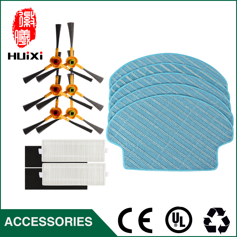 3 pairs Side Brushes+2 pairs Hepa filter+5pcs Mop Cloth Replacement Parts for Vacuum Cleaner Accessories Suitable for DT85 DT83 cheapest 1pcs cleaning mopping cloth 3 pair hepa filter 3 pair cleaner side brush for dt85 dt83 dm81 vacuum cleaner for house