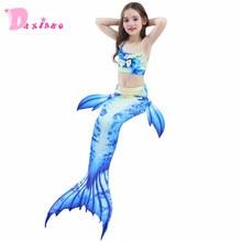 New 2018 Girls Kids Mermaid Tail Bikini Bathing Suit Fancy Swimmable Wear Cosplay Costumes Children Swimwear Clothing Set