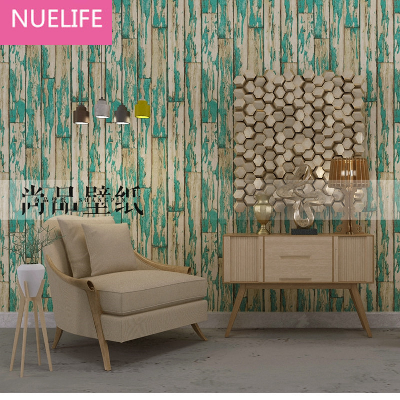 0.53x10 Meter Retro Plaque Wooden Pattern Wallpaper Living Room Bedroom Clothing Store Bar Restaurant Cafe Wallpaper N12