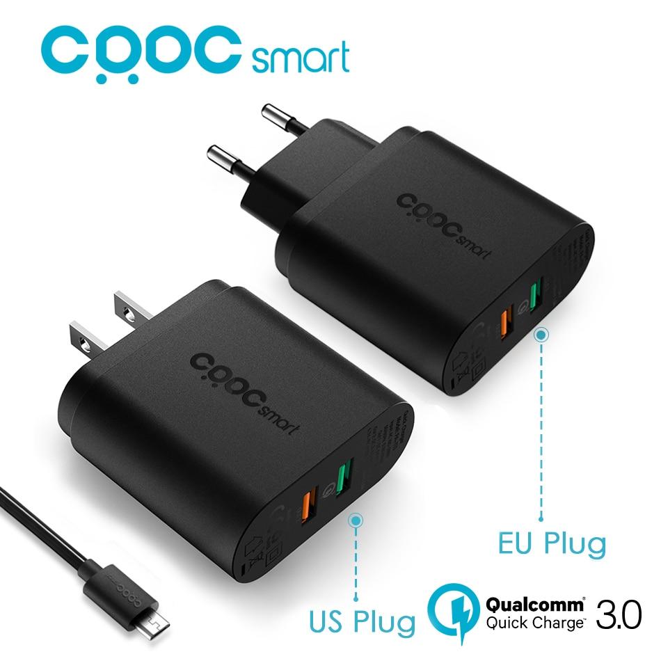 CRDC QC 3 0 Quick Charger 3 0 34 5W 9V 12V 2 Ports USB Wall