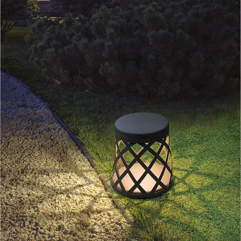 Светодиодный светильник для сада, открытый водонепроницаемый простой современный алюминиевый подсвечник, лампа для газона - 5
