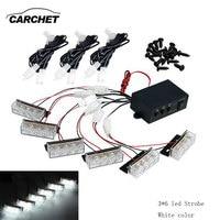 CARCHET Car Styling White Yellow 18 LED Strobe Dash Emergency Flashing Warning Light Waterproof Warning Lights