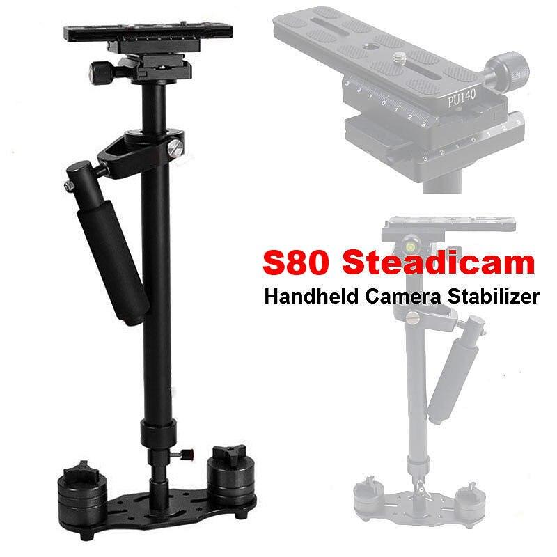 bilder für Neue S80 Steadicam 80 cm Handkamera Stabilizer Kompakte Steadycam Minicam für Canon Nikon Sony DSLR Camcorder DV Kamera Video