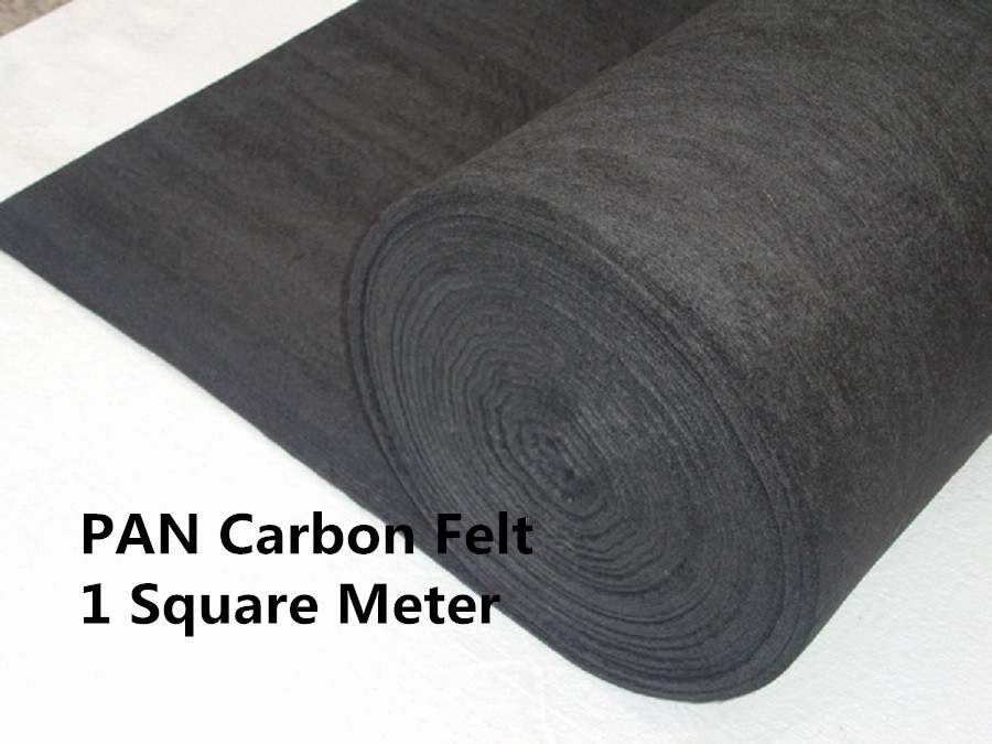 Carbon Graphite Felt PAN-Based PANCF310001000, High electriccal load capacity,Uniform temperature profile soft carbon graphite felt pan based scf310001000 carbon felt insulation roll for vaccum furnace