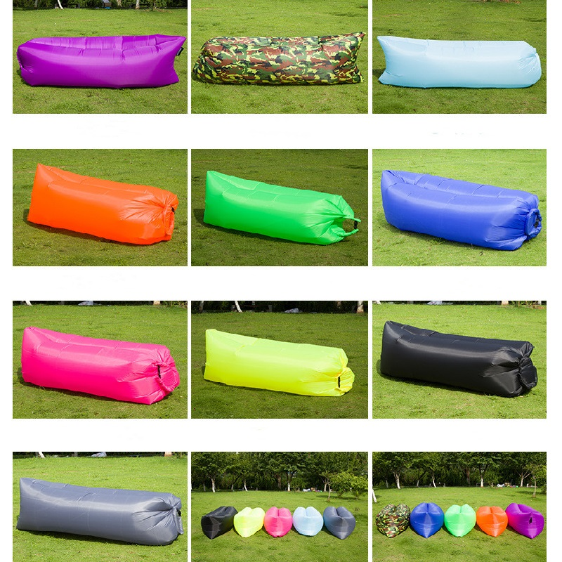 Light Sleeping Bag Waterproof Inflatable Bag Lazy Sofa Camping Sleeping Bags Air Bed Adult Beach Lounge Chair Folding CE2075/o
