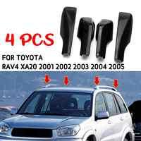 4 pièces remplacement pour Toyota RAV4 XA20 2001 2002 2003 2004 2005 noir voiture style toit Rack couverture barre Rail fin Shell accessoires