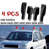 4Pcs Replacement For Toyota RAV4 XA20 2001 2002 2003 2004 2005 Black Car Styling Roof Rack Cover Bar Rail End Shell Accessories