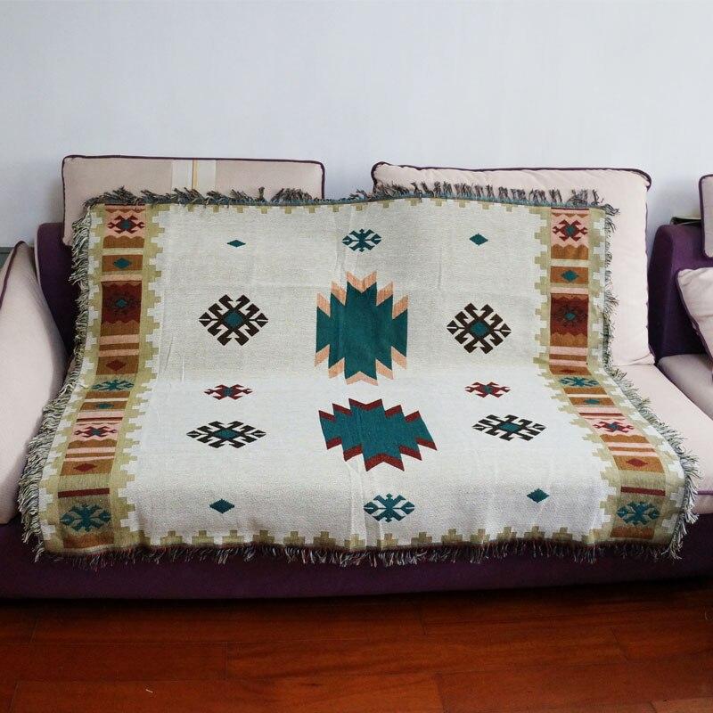 Multifunktions Kelim Sofa Decke Geometrische Muster Wohnzimmer Schlafzimmer Teppich Weiche Carpet Bettdecke Tischdecke Tapisserie