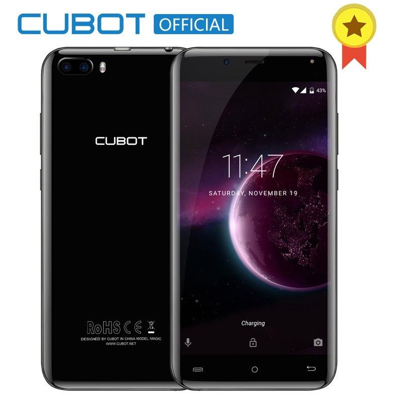 Cubot Magia MT6737 Traseira Quad Core Câmeras Dual Android 7.0 gb de RAM gb ROM Smartphones 5.0 Polegada 16 3 HD curva Exibição Celular 4g LTE