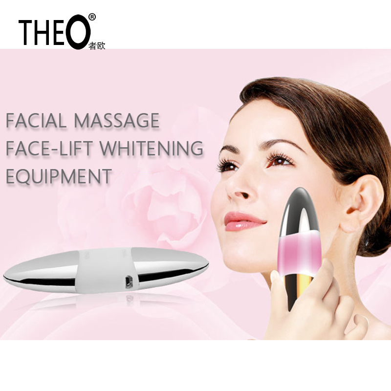 Theo New Anion Beauty Facial Beauty Instrument Machine Protable Microseismic Massage Skin Whitening FaceMaster HQT-1509