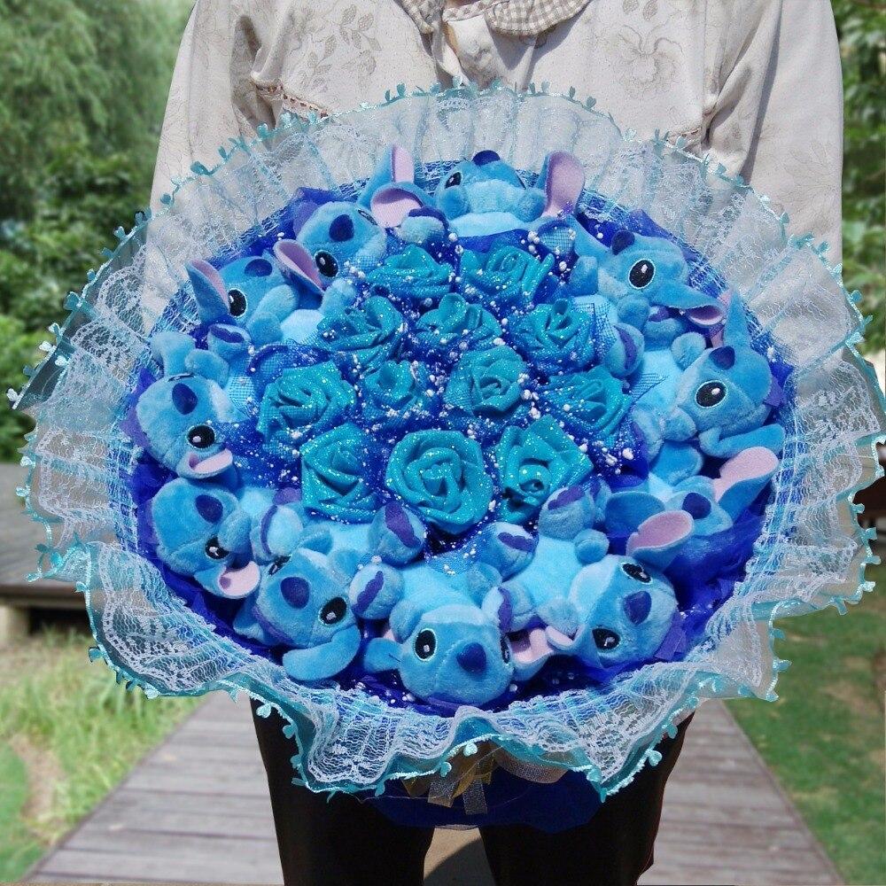 Point Bouquet peluche peluche animaux jouets artificiels Kawaii dessin animé faux fleurs meilleur anniversaire jour de noël cadeau de rêve